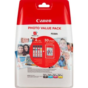 Canon Canon CLI-581XL Photo Value Pack BK/C/M/Y  + 50db fotópapír 2052C004 (eredeti)